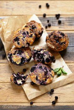 Un dejeuner de soleil: Muffins aux myrtilles comme là-bas