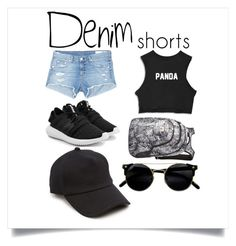 """UndergroundGirl"" by alessandracorona on Polyvore featuring rag & bone/JEAN, adidas Originals, rag & bone, Dakine, jeanshorts, denimshorts and cutoffs"