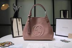 Gucci soho shopping tote bag with tassels