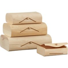 birch storage boxes set
