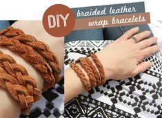 DIY Braided Leather Wrap Bracelets | Bubby & Bean
