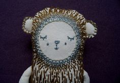 """Dodo...l'ours do..."" cadeau naissance  poliartetdesign.wix.com/poli Art Et Design, Objet D'art, Creative Workshop, Softies, Bears, Fabrics, Objects"