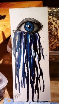 what if ideas seeped though eyes instead of tears?