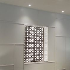 illuminated wall panel in arabic pattern with white light
