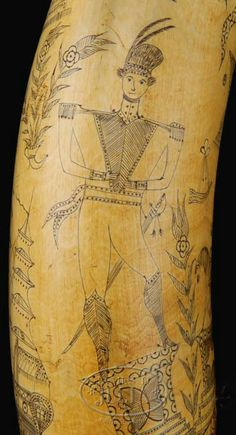 MAGNIFICENT LATE 18TH OR EARLY 19TH C. LARGE SCRIMSHAWED MASONIC POWDERHORN. Powder Horn, Hunting Bags, Naval, Majestic Animals, All Art, Horns, Primitive, Vintage World Maps, Folk