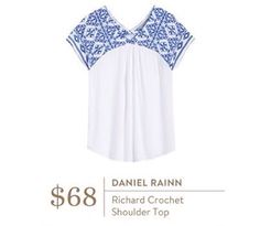 LOVE this top!  I'm really liking all of the embroidery for spring/summer and these colors are beautiful!