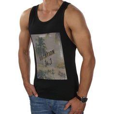 JACK-amp-JONES-Herren-Tank-Top-jorKLOVN-2-Shirt-Print-Armellos-Oversize-2856