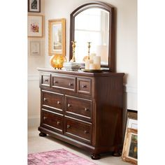 $699 W/mirror Bedroom Furniture   Hanover Panel Dresser U0026 Mirror