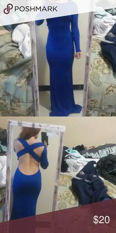 Prom dress Midnight blue prom dress Dresses Backless
