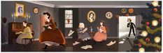Louisa May Alcott's 184th birthday | Google Doodle 11/29/2016