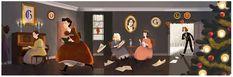 Louisa May Alcott's 184th birthday | Google Doodle 11/29/2016