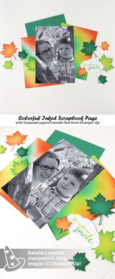 Traditional scrapbook page layout by Natalie Lapakko featuring Seasonal Layers dies from Stampin' Up! Scrapbook Page Layouts, Scrapbook Pages, Scrapbooking Ideas, Image C, Digi Stamps, Greeting Cards Handmade, Stampin Up, Layers, Paper Crafts