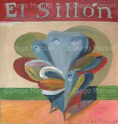 """El sillon 5b"", acrylic on canvas, 22 x 20 cm. , 2001. . By Diego Manuel"