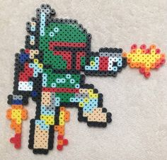 Star Wars Boba Fett Mega Man Perler Bead Art by EightBitEvolution