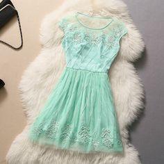 Embroidered temperament dress GG731D