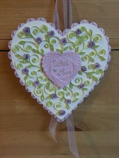 Quilled hanging heart.