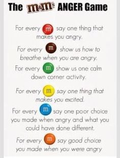 Living a RAD Life: M&Ms Feelings Activity health activities health care health ideas health tips healthy meals Group Therapy Activities, Mental Health Activities, Feelings Activities, Counseling Activities, Kids Mental Health, Children Health, Anger Management Activities For Kids, Therapy Ideas, Art Therapy