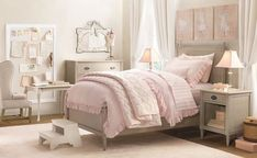 pink and grey bedroom ideas for little girl - Google Search