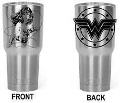 30 oz. Yeti Travel Tumbler Custom Laser Engraved | Wonder Woman