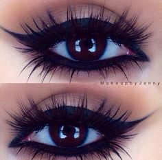 Eye liner + lashes = perfection