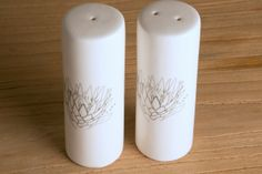 Salt & Pepper set by Cabo Collaboration Salt And Pepper Set, Cabo, Entertaining, Tattoo Art, Collaboration, Pretty, Florals, Mothers, Stuff To Buy
