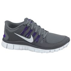 Nike Free 5.0+ - Women's - Running - Shoes - Black/Dark Grey/White/Metallic Silver