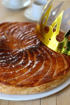Pithivier is a traditional galette des rois (King Cake) from the Centre region of France. This recipe uses almond paste instead of frangipane.