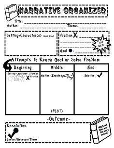 Image result for narrative graphic organizer 4th grade
