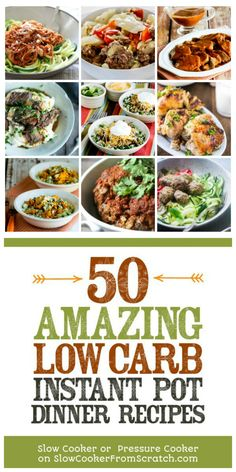 Here are 50 AMAZING Low-Carb Instant Pot Dinner Recipes to help you get a low-carb dinner on the table without much fuss! Best Instant Pot Recipe, Instant Recipes, Instant Pot Dinner Recipes, Instant Pot Pressure Cooker, Pressure Cooker Recipes, Crockpot Recipes, Cooking Recipes, Healthy Recipes, Paleo Dinner