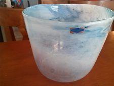 AMAZING SIGNED OIVA TOIKKA NUUTAJARVI GLASS BOWL/VASE-FINLAND- RARE & UNIQUE