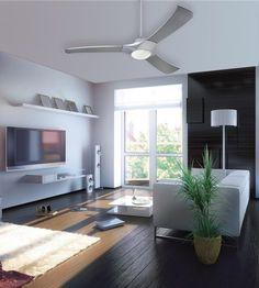 Techno 52-Inch Three-Blade Indoor LED Ceiling Fan