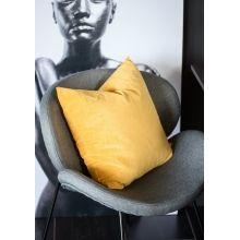 #gul #pute #putetrekk som passer godt som #sofapute i deilig #velur