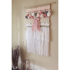 Items similar to Custom Pom Pom Weaving on Etsy – Villa Kunterbunt – weberei Weaving Textiles, Weaving Art, Tapestry Weaving, Loom Weaving, Hand Weaving, Yarn Crafts, Diy And Crafts, Diy Laine, Weaving Wall Hanging