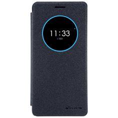 For Lenovo ZUK Z2 Phone Bag Pro NILLKIN Sparkle SeriesView Window PU Leather Case - Black
