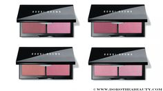 Bobbi Brown Blush Duo: Sand Pink/Pale Pink, Plum/French Pink, Tawny/Peony, Pastel Pink/Powder Pink