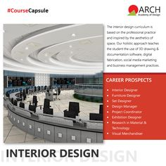 The Faculty of Interior Design is one of the most experienced and informed in the creative practices at ARCH Academy of Design. Here you will be engaged in practice, research and innovative solutions to solve challenging, real-world interior design problems. #ArchAcademyofDesign #Arch #education #course #Interior #design