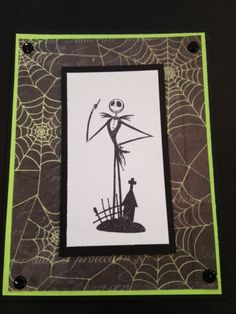 HANDMADE NIGHTMARE BEFORE CHRISTMAS CARDS. SO CUTE AND  UNIQUE.
