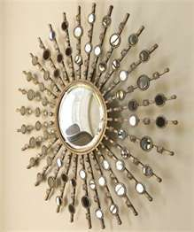 : Decorative Round Wall Mirror - maybe above piano?