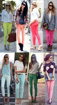 aww love these colored skinny pants!!