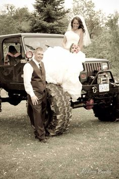 #countrywedding #jeeps #mudder