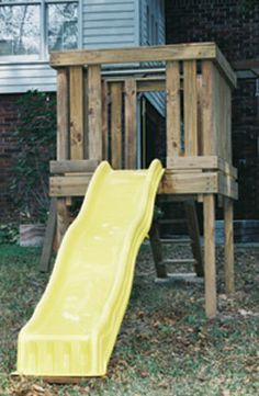 ^^Discover more about outdoor swing sets. Click the link for more info Viewing the website is worth your time. Backyard Slide, Backyard Playhouse, Build A Playhouse, Backyard For Kids, Backyard Projects, Kids Yard, Kid Projects, Backyard Patio, Outdoor Swing Sets