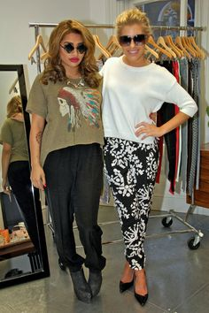 Mollie KIng and Vanessa White