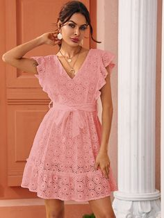 Party Dresses For Women, Cute Dresses, Casual Dresses, Pink Outfits, Dress Outfits, Fashion Dresses, Frocks For Girls, African Print Fashion, Hot Dress