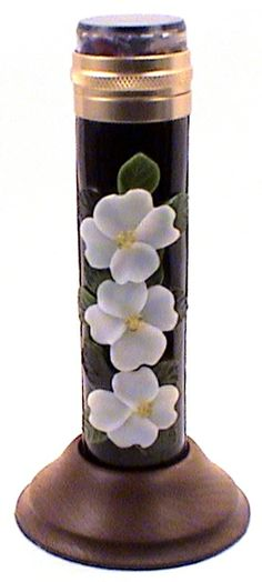 """Stained Glass Kaleidoscope,""""Dogwood"""" Multi Bloom By Artists Peggy and Steve Kittelson."""
