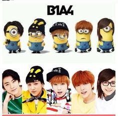 B1A4 minions. :)) They really resemble B1A4. :D