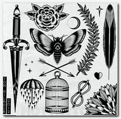 50 Ideas for tattoo traditional old school ink flash art Flash Art Tattoos, Body Art Tattoos, Tattoo Drawings, New Tattoos, Sleeve Tattoos, Cool Tattoos, Tattoos Pics, Skull Tattoos, Forearm Tattoos