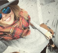 fedora - aviators and tartan scarf Winter Style, Autumn Winter Fashion, Fall Winter, Tartan Scarf, Aviators, Chanel Boy, Love Fashion, Outfit Of The Day, Style Me