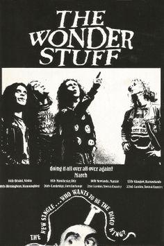 The Wonder Stuff. Tour 1988.