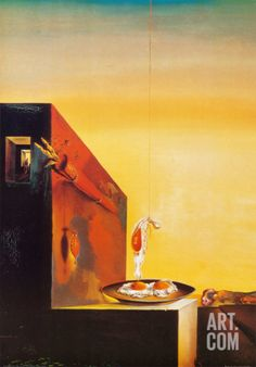 Eggs on a Plate by Salvador Dali. Print from Art.com, $29.99