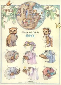 Oliver and Olivia Owl By Kathy Lawrence